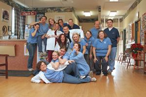 Belle Mead Animal Hospital Team having fun