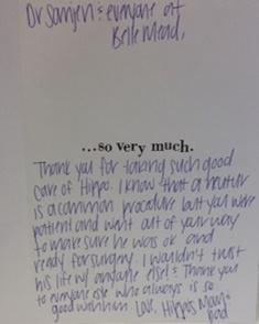 Hippo Thank You Card - BMAH