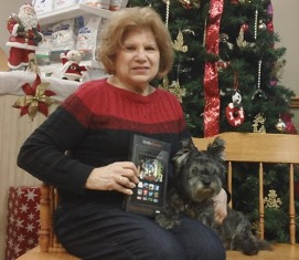 Winner Ann Borowicz with her dog Max