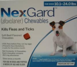 NexGard chewable for Dogs 10.1 to 24 lbs