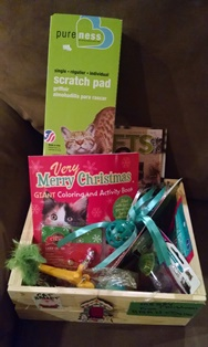Raffle items at Belle Mead Animal Hospital December 2014 Open House