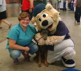 Dr. Somjen at Somerset Patriots Bark in the Park Night