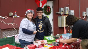 Raffle table at Belle Mead Animal Hospital 2015 Reindeer Event