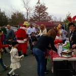Visitors at 2015 Belle Mead Animal Hospital Reindeer Event