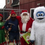 Elf, Yukon Cornelius, Santa and Abominable Snowman