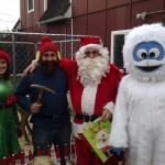 Elf, Yukon Cornelius, Santa and Abominable Snowman