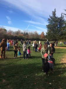 2015 Howl-O-Ween event Crowd in Dog Park Hillsborough New Jersey