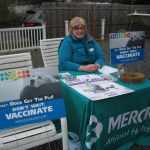 Merck Animal Health at Belle Mead Animal Hospital Live Reindeer event