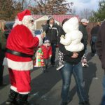 Santa Claus at Belle Mead Animal Hospital Reindeer Holiday Event