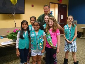 Dr Martins and Hillsborough Girl Scouts May 2017