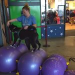 Rehabilition exercises at Bark in the Park Night
