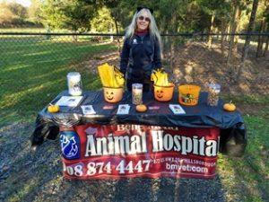 Belle Mead Animal Hospital Vendor Table Howl-O-Ween