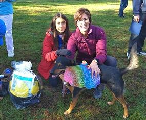 Olly wins Belle Mead Animal Hospital Raffle Gift Basket